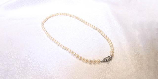 真珠の糸替え後の画像