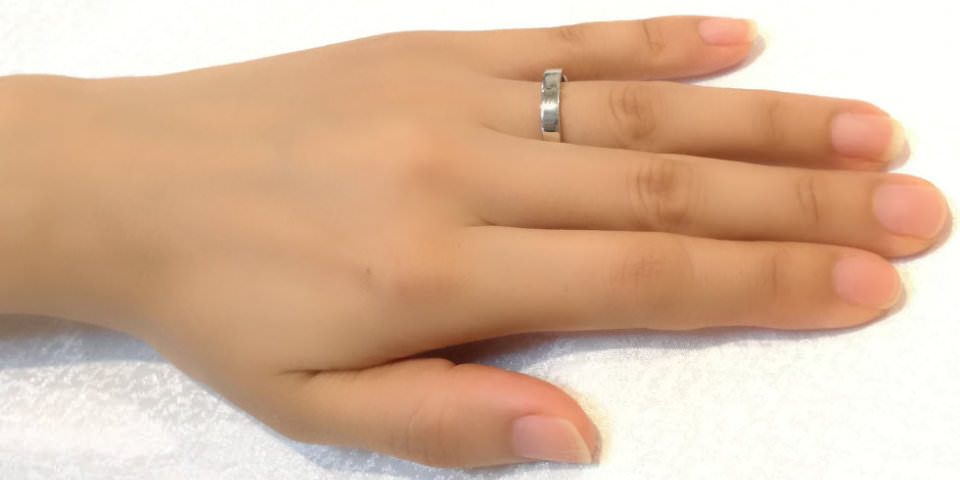 指輪の幅によるイメージの違い3.5mm