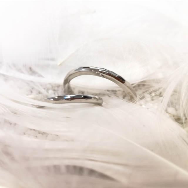 ふたりで作る手作り結婚指輪・ペアリングの作品例1