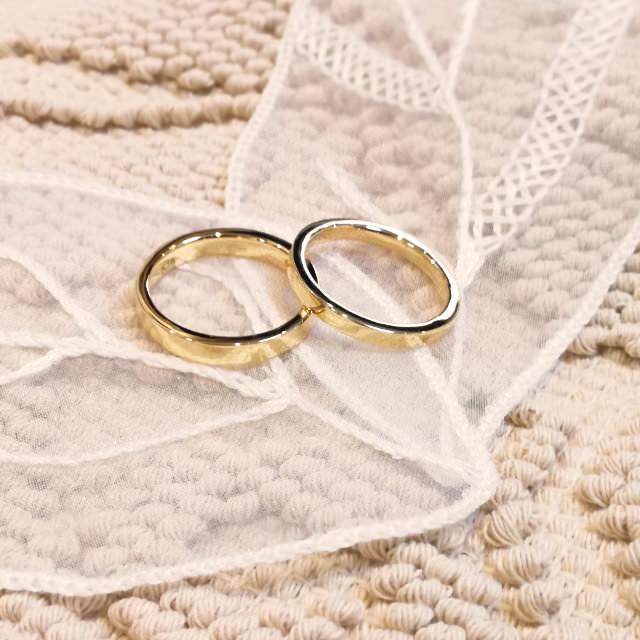 ふたりで作る手作り結婚指輪・ペアリングの作品例2