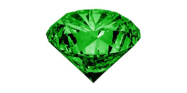 半透明な緑色石
