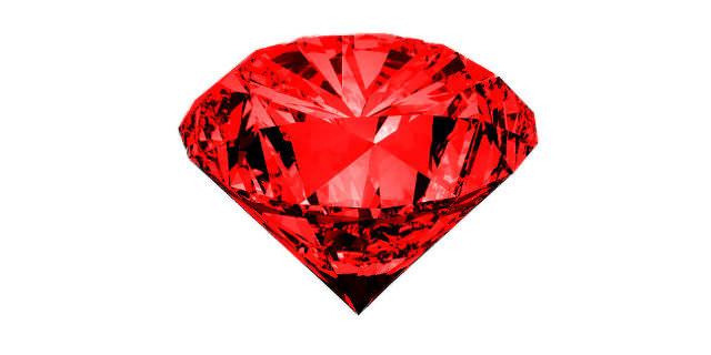 半透明な赤色石