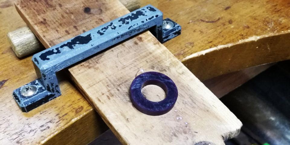 ロストワックスを用いた指輪作り